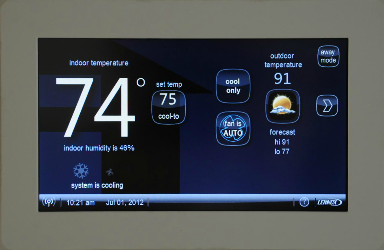 icomfort WiFi Thermostat-Home Screen