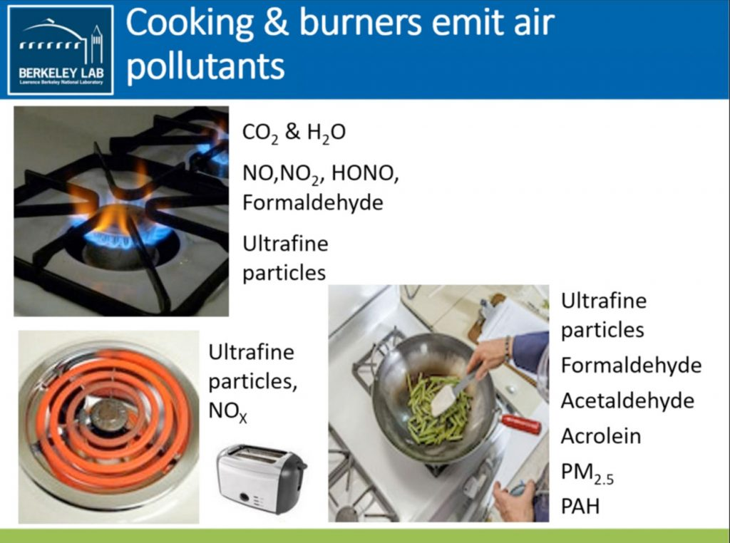 Berkeley Labs-Cooking and Burners Emit Air Pollutants